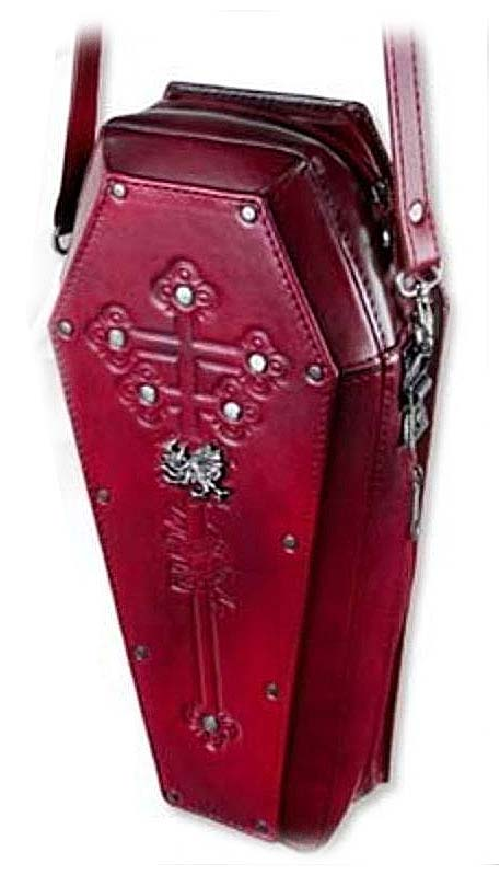 Coffin-shaped-handbag-burgundy-Prince-of-Wallachia's 1