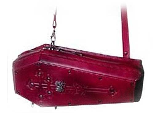 Coffin-shaped-handbag-burgundy-Prince-of-Wallachia's 3